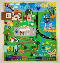 Big Developing Play Mat, Felt Play Mat, Activity, Montessori by iLaydaToys on Etsy https://www.etsy.com/listing/505633143/big-developing-play-mat-felt-play-mat