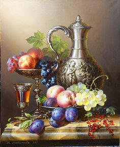 artist Lyubimova Veta, Still life with jug