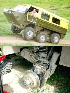 6x6 Truck, Trucks, Kit Cars Replica, American Dream Cars, Off Road Camper Trailer, Strange Cars, Amphibious Vehicle, Offroader, Microcar