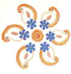Kundan Rangoli Mango Pattern with Pearl by KundanArt on Etsy