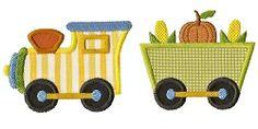 Fall Train Applique - 3 Designs! | Fall | Machine Embroidery Designs | SWAKembroidery.com Applique for Kids