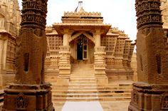 Jain Temple in The Thar Desert,  Rajastan, India