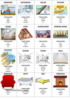 reading and speaking: House Taboo Cards