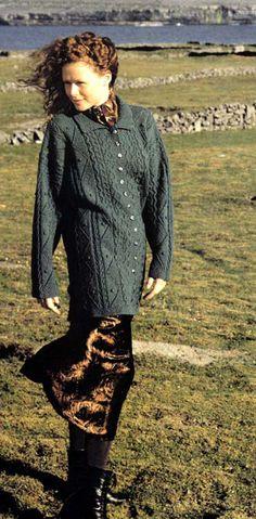 Maidenhair Sweater Kit (yarn and pattern) £82.50 on Virtual Yarns at https://www.virtualyarns.com/store/aran-knitting/maidenhair/
