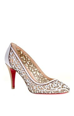 Christian Louboutin White Pampas Ron 85