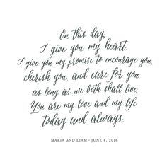 """""""Your Vows as an Art Print"""" by Minted in beautiful frame options and a variety of sizes."""