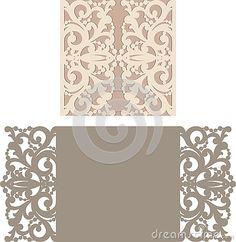 Laser Cut Invitation Card. Laser cutting pattern for invitation wedding card…