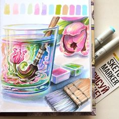 drawing simple tutorial copic markers marker drawings doodles trendy easy siterubix ilovetodraw