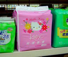 Hello Kitty sanitary pads by Kotex