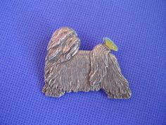Tibetan Terrier With Butterfly PIN 71B Pewter DOG Jewelry BY Cindy A Conter | eBay