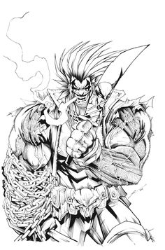 Lobo art by Gerardo Sandoval! (DC comics)