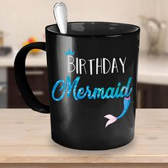 03981e881 Items similar to Mermaid Birthday Mug | Mermaid Mug | Mermaid Coffee Mug |  Mermaid Cup | Mermaid Coffee Cup | Mermaid Gift | Mermaid Birthday | Gift  For Her ...