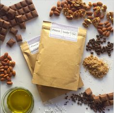 frank body <3 Cacao Coffee Scrub: I'm packed with 200g of cacao & lots of other good stuff.