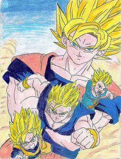 Goku,Gohan,Goten and Trunks