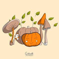 Dessin doodle pour octobre #octobre #GribouilliStreet #citrouille Doodle Art, Pikachu, Doodles, Boutique, Fictional Characters, Hoodie Sweatshirts, Mushroom, Dibujo, Donut Tower