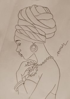 African woman pattern for tin glazed pottery project African American Art, African Women, Black Women Art, Black Art, Afrique Art, African Art Paintings, Afro Art, Colouring Pages, String Art