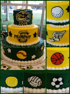 Murphy Middle School Ocelots Girls Athletic Sports Banquet Cake