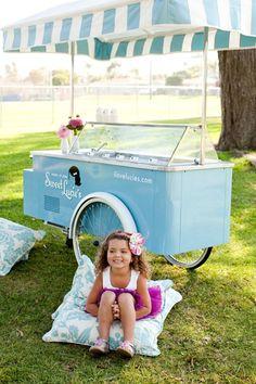 Ice cream cart!