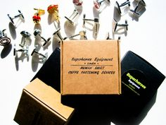 Wedding party Cufflinks set of 5 superheroes   by LondonDesign, £70.00