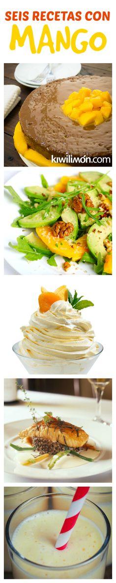 Las mejores recetas con MANGO para aprovechar la temporada de esta DELICIOSA fruta tropical.