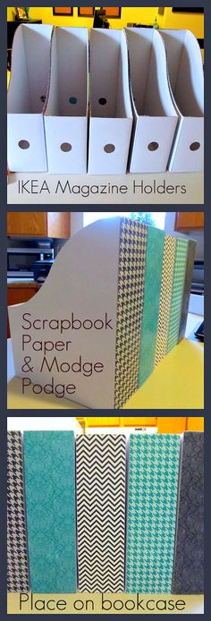Buy plain magazine holders and make them cute. Put on counter or desk for all of kids papers they bring home. At the end of the week pull all the papers out and they can decide on the few they want filed away with their school papers and which ones can be recycled.