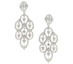 Judith Ripka Sterling Diamonique Drop Earrings