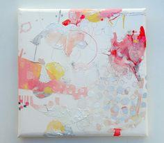 Haru wo yobu (2011) Oil on canvas, ink, pigment, charcoal