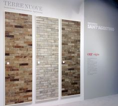 #Terrenuove, new collection by #CeramicaSantAgostino, exposition during #Covering2015 in Olando, Florida #design #designtiles #modern #architecture #stand #booth #fair #cotto #ground #tradition