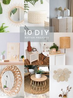 Ok, I can't shake it! I still love rattan and I'm not sure when I'll be over it.For any of you who are fellow lovers of this trend then I've put together a little round up of my fave rattan DIY… Diy Crafts To Sell, Home Crafts, Diy Projects For Home Decor, Diy Home Projects Easy, Wood Projects, Rattan, Wicker, Creation Deco, Creation Crafts
