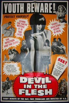 DEVIL in the flesh  #vintage-poster