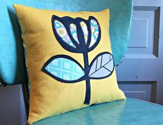 Mod Flower Pillow by maureencracknell, via Flickr
