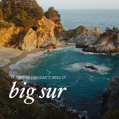 Big Sur is one of our favorite places in the world! If you are visiting, here are 11 Things You Can't Miss in Big Sur California.