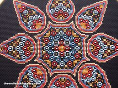 This gorgeous mandala chart invokes thoughts of desert nomads and the colours of Berber carpets or Arabic designs. It is a whole stitches only chart with the added element of beading. Design measures 112 x 112 stitches (8 x 8 inches on 14ct fabric or over two on 28ct fabric) Your
