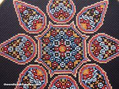 Desert Gypsy Mandala Cross Stitch PDF Chart Pattern Instant