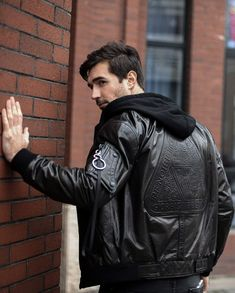 Genuine leather jacket, casual styling, 100% hand-made, same craftsmanship of Italian luxury brands Italian Luxury Brands, Leather Jacket With Hood, Luxury Branding, Hoods, Stylish, Casual, How To Wear, Jackets, Men