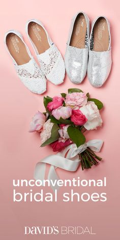 No one says you have to wear white pumps on your wedding day, you know. Visit davidsbridal.com for our guide to the nontraditional pairs that will make your wedding look your own.