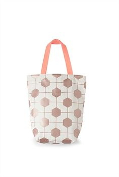Hexagon Print Shopper