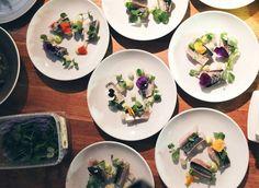 Mackerel being plated #oekse #london #popup #workshop #fff #downtheline #food #foodporn #chef #chefstalk #plating #chefsofinstagram #theartofplating by oekselondon