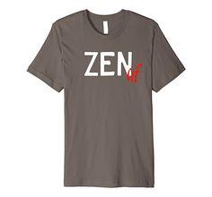 Amazon.com: Men's Zen af funny Yoga T-Shirt | Slim Fit | Namaste Zen 2XL Asphalt: Clothing