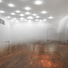 ANZAS Dance Studio, Tsutsumi Associates. to appear like a room full of #mist to enhance the importance of the dance floor. don't think it looks as successful as it sounds..