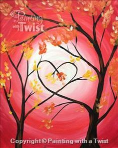 Love Trees for Mommy and Me ALL AGES - Austin, TX - North Painting Class - Painting with a Twist