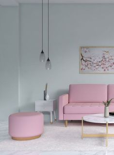 Mint and pink living room ideas Pink Furniture, Living Furniture, Home Decor Furniture, Best Wall Paint, Wall Paint Colors, Mint Green Walls, Pink Walls, Living Room Green, Living Room Decor