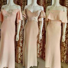 Destination Wedding Invitations, Wedding Themes, Wedding Entourage, Entourage Gowns, Filipiniana Wedding Theme, Bridesmaid Dresses, Wedding Dresses, Bridesmaids, Two Piece Gown