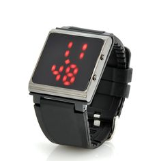 LED Watch with Detachable Watch Face And Rubber Strap - iPod 6th Gen Holder