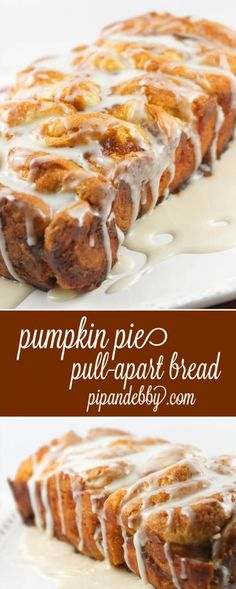 Pumpkin Pie Pull-Apart Bread - this is the PERFECT fall bread. So delicious! Pumpkin Pie Pull-Apart Bread - this is the PERFECT fall bread. So delicious! Pumpkin Pie Mix, Pumpkin Dessert, Pumpkin Spice, Pumpkin Pumpkin, Canned Pumpkin, Pumpkin Puree, Pumpkin Recipes, Fall Recipes, Holiday Recipes