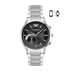 Emporio Armani Connected Hybrid Smartwatch - Men Wrist Watch on YOOX. The best online selection of Wrist Watches Emporio Armani Connected. Emporio Armani, Army Watches, Watches For Men, Silver Watches, Cheap Watches, Casual Watches, Wrist Watches, Stainless Steel Bracelet, Stainless Steel Case