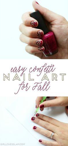 Easy Confetti Nail A
