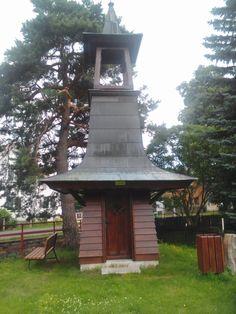 Dřevěná zvonička v Dolním Podluží - Severočeský kraj