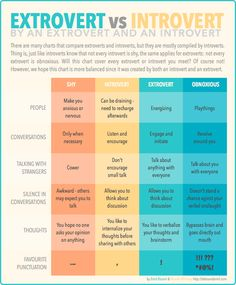 The Differences Between Shy, Introverted, Extroverted And Obnoxious ( yes, yes, yes, not all extroverts are obnoxious !)