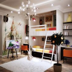 Via Natalya BelyakovaThis fine art inspired room is a gorgeous idea for creating a more cultured space for your young ones.